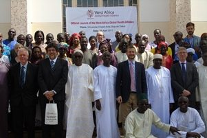 Sir John Savill and WAGHA patners during the lunching of the WAHGA Logo in Senegal